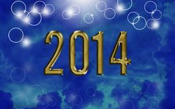 Shiny year 2014 Royalty Free Stock Photos