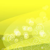 Shiny yellow background. Illustration for your design Royalty Free Stock Photo