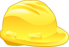 Shiny Yellow Hard Hat Illustration Royalty Free Stock Photo