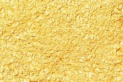 Shiny yellow leaf gold foil texture for background Royalty Free Stock Images