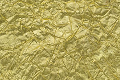 Shiny yellow leaf gold foil Royalty Free Stock Image