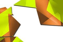 Shiny yellow and orange geometric shape, abstract background Royalty Free Stock Photography