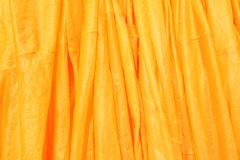 Shiny yellow rope fabric Stock Photography