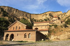 Shio-Mgvime monastery. The Shio-Mgvime monastery is a medieval monastic complex in Georgia, near the town of Mtskheta. It is located in a narrow limestone canyon Stock Photo