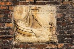 Shio nad old brickwork in Brugge, Flanders, Belgium Royalty Free Stock Photo