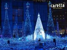 Shiodome Caretta Illumination. Tokyo, Japan Canyon d`Azur royalty free stock photography
