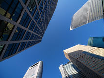 Shiodome's skyscrapers Royalty Free Stock Photos
