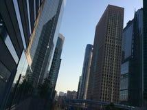 Shiodome Sio plats Tokyo Royaltyfria Foton