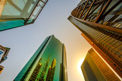 Shiodome Skyscrapers Background Stock Images