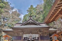 Shiogama Shrine near Chureito Pagoda. Chureito Pagoda, Arakura Sengen Shrine in Japan Royalty Free Stock Photos
