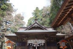 Shiogama Shrine near Chureito Pagoda. Chureito Pagoda, Arakura Sengen Shrine in Japan Royalty Free Stock Photography