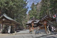 Shiogama Shrine near Chureito Pagoda. Chureito Pagoda, Arakura Sengen Shrine in Japan Royalty Free Stock Image