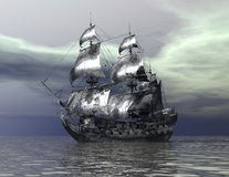 Ship. Digital visualization of a ship Stock Photos