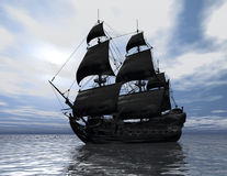 Ship. Digital visualization of a ship Stock Images