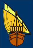 Ship. Beautiful ship with details royalty free illustration
