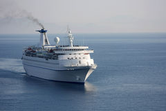 Ship. Cruise ship sailing on calm waters on open sea Royalty Free Stock Photos