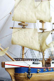 "Ship. Model of a historic ship ""Golden Hind Stock Photography"