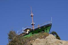 Ship. House over a hill in algarrobo Stock Photos