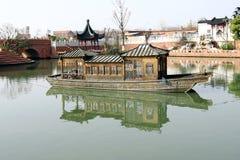 Ship. China park lake tour boat Stock Image