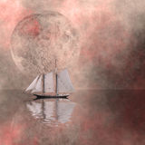 Ship. High Resolution Artistic Sailing Ship Vector Illustration