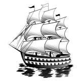 Ship. Illustration of the ship into the sea Royalty Free Stock Photos