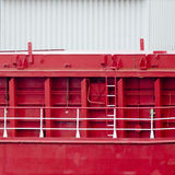 Ship. Detail of a huge ships outer wall Stock Image
