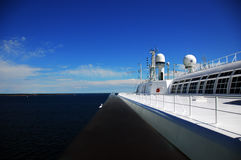 On a Ship. View from the upper deck of a passenger ferry Royalty Free Stock Photos