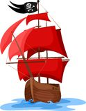 Ship. Vector illustration of a pirate ship Royalty Free Stock Images