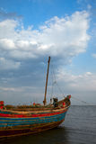 A ship. Waiting for sail at a harbour Stock Image