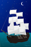 Ship. Vector illustration of a ship in the sea Royalty Free Stock Photo
