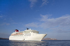 Ship. A large cruise ship for seas and oceans Royalty Free Stock Photos