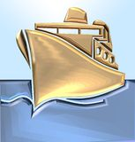 Ship. 3D illustration Stock Photo