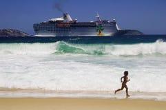 Ship. Big Ship, near the beach stock photos