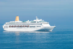 Ship. Cruise ship in Monte-Carlo water area royalty free stock photo
