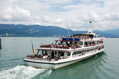 Ship. Summer pictures of the bavarian island Lindau (Bodensee Stock Images