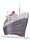 Ship. A huge passangger ship cruising on the sea Stock Photos