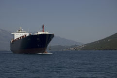 The ship in adriatic sea Stock Images