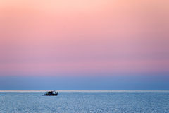 Ship at the Aegean Sea Stock Images