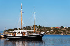 Ship at the Aegean Sea Royalty Free Stock Photography