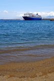 Ship on Aegean Sea Royalty Free Stock Image