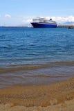 Ship on Aegean Sea Royalty Free Stock Image
