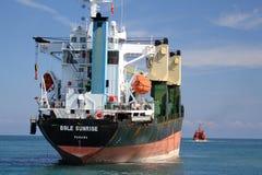 Ship aground Royalty Free Stock Photos