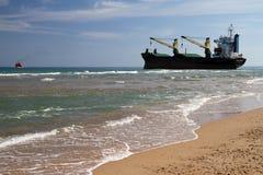 Ship aground Stock Photo