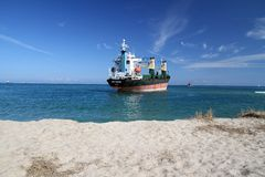 Ship aground Royalty Free Stock Images
