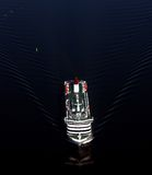 Ship from air. Taken from a small plane above the sea Stock Image