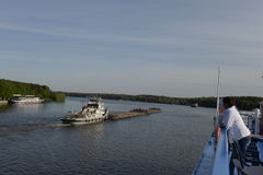 Ship Alexander Suvorov. Moored in the river port city of Nizhny Novgorod. a river cruise on the Volga River. Russia. June 2014 r Stock Photo
