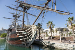 Ship in Alicante Marina Stock Photography