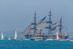 Ship Amerigo Vespucci Stock Images
