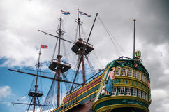 Ship The Amsterdam of Dutch East India Company Amsterdam, Netherlands Stock Images