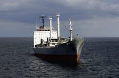 Ship at anchor. Bow view of a ship at deep anchor Royalty Free Stock Photography